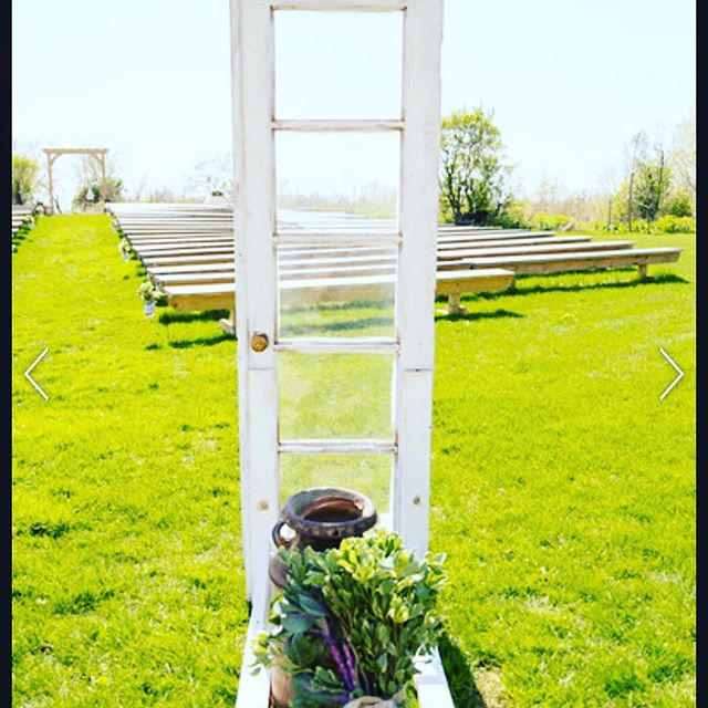Wooden Ceremony French Doors