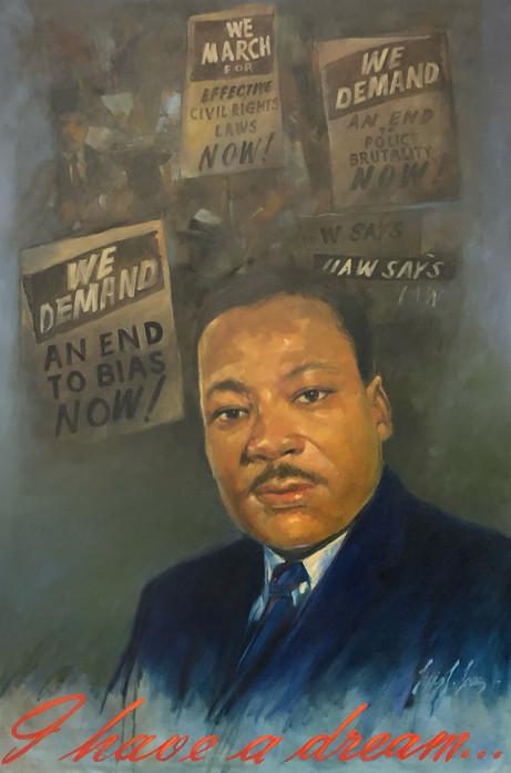 Dr. Martin Luther King Jr. portrait