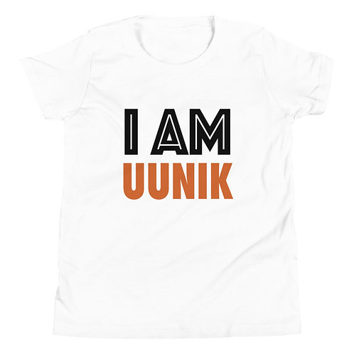 I AM UUNIK Youth Unisex Black Outline Short Sleeve Logo T-Shirt