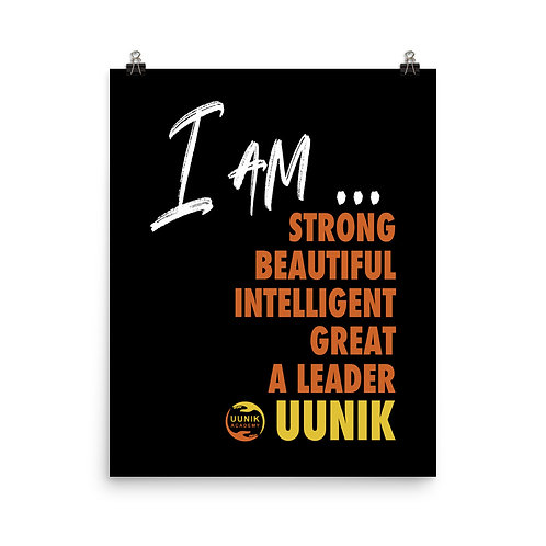 I AM BEAUTIFUL MANTRA Poster