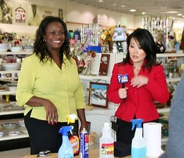 Sheryl Renee on Denver's 9 news for arc Thrift