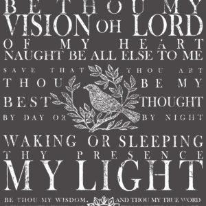BE THOU MY VISION 24X33 DECOR TRANSFER