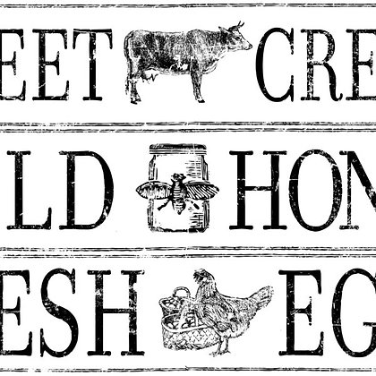 FARM FRESH SIGNAGE 14.25X24 DECOR TRANSFER