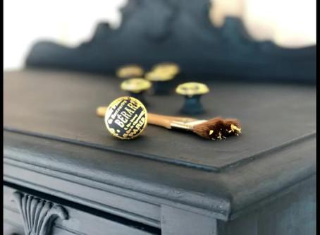 Gilded drawer knobs add interest