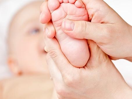 Réflexologie plantaire pour mon bébé