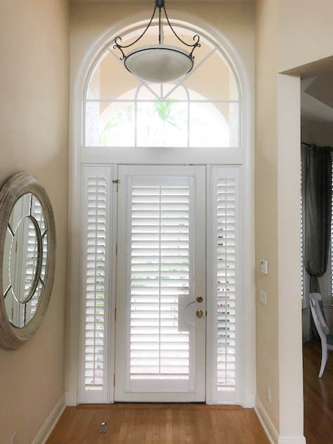French door with cut out