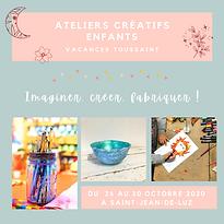 Ateliers créatifs enfants - Vacances Tou
