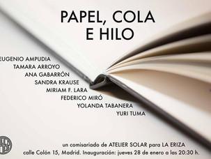 Exposición Papel, cola e hilo, La Eriza, Madrid