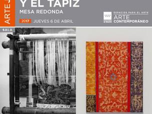 """Mesa redonda """"entre la pintura y el tapiz"""""""