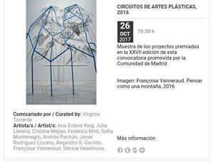 Exposición Circuitos de Artes Plásticas en LABoral, Gijón