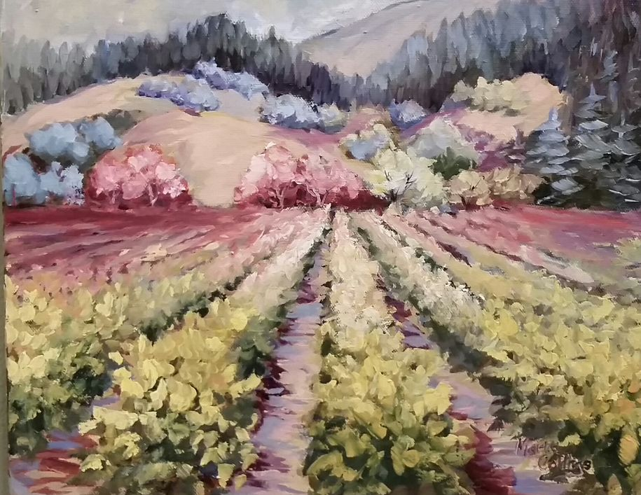 Vineyard in Mauve