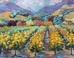 Van Goghs style vineyard,  SOLD