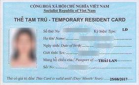 Vietnamese temporaryresidence car. residence card in vietnam. work visa in vietnam. Fisher's SuperKids English Cente. Working legally in Vietnam.