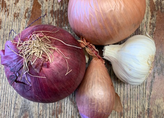 Onion, Garlic, or Shallot
