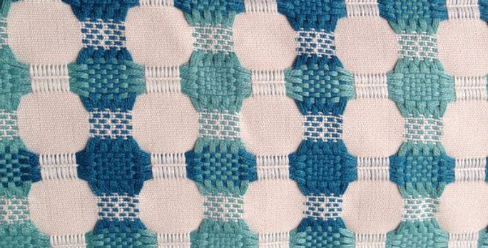 Turquoise Modern Woven Dot