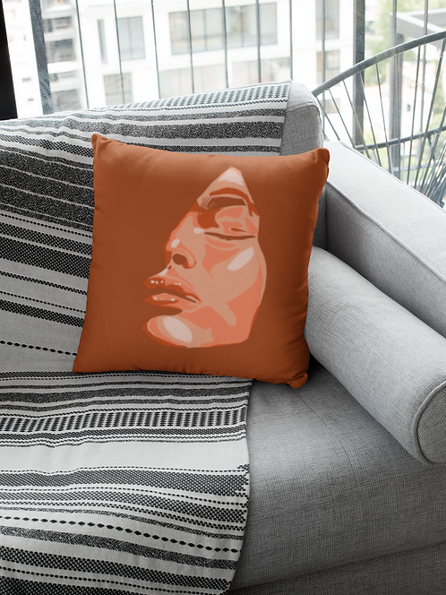 Passion Spun Polyester Square Pillow Case