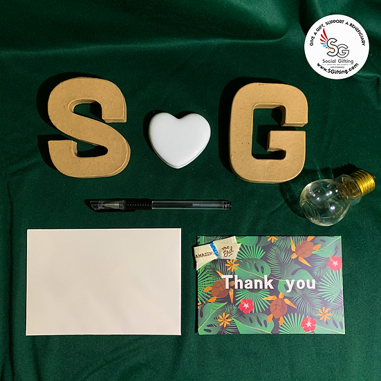 Thank You Card With Inspirational Ribbon - Jungle
