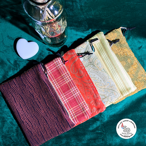 2-Toned Fabric Pouch
