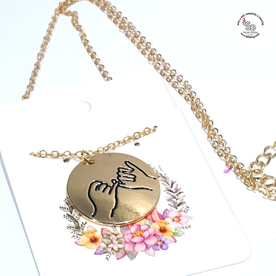 Everlasting Friendship Charm with Chain