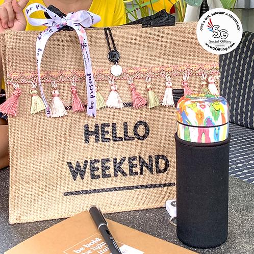 Straw Weekend Bag