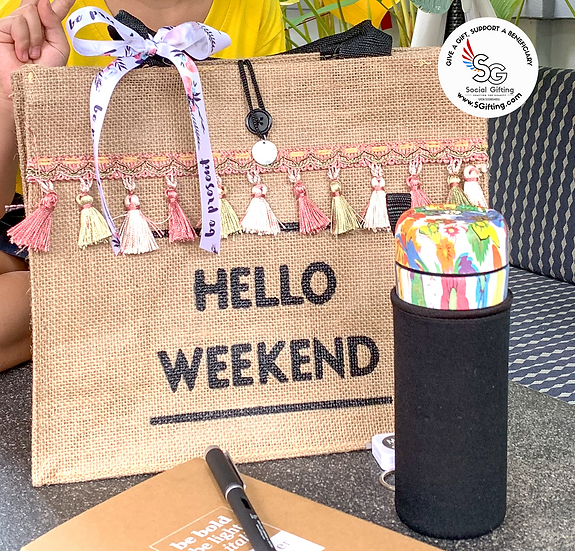 Straw Weekend Bag
