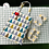Thumbnail: Fabric Thermal Bag (L) with Crocheted Key Ring