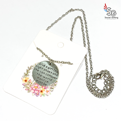 Conquer the World Charm with Chain