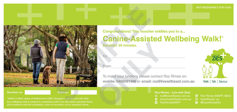 Canine-Assisted Wellbeing Walk