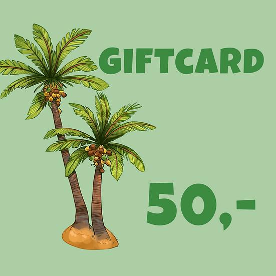 Giftcard 50 kr