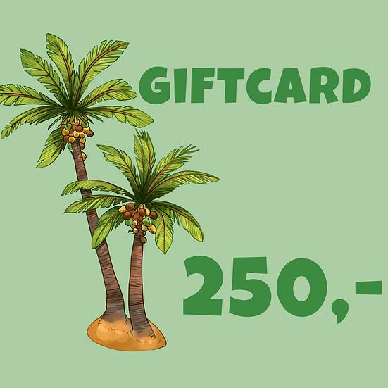 Giftcard 250 kr