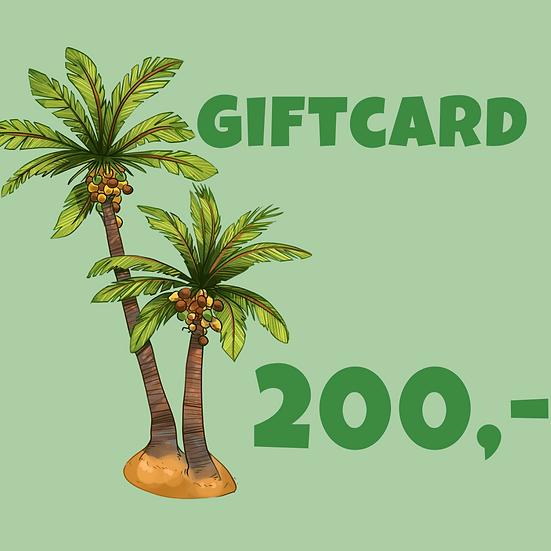 Giftcard 200 kr