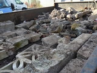 demolition crew 3 vans at cowbridge