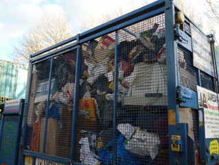 waste collected full truck to the brim lucky we have the sliding roof