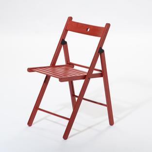 木質紅折疊椅