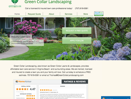 Website Feature: Green Collar Landscaping