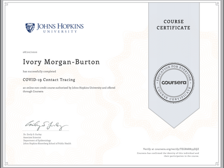 Covid 19 Contact Training Certificate