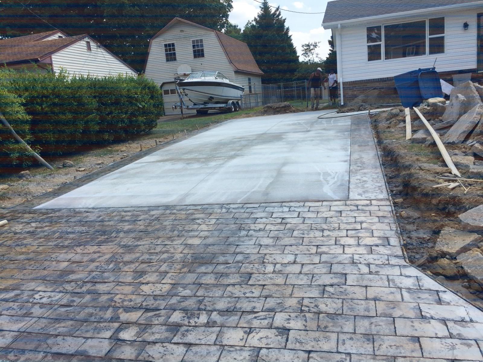 Concrete Stone Driveway