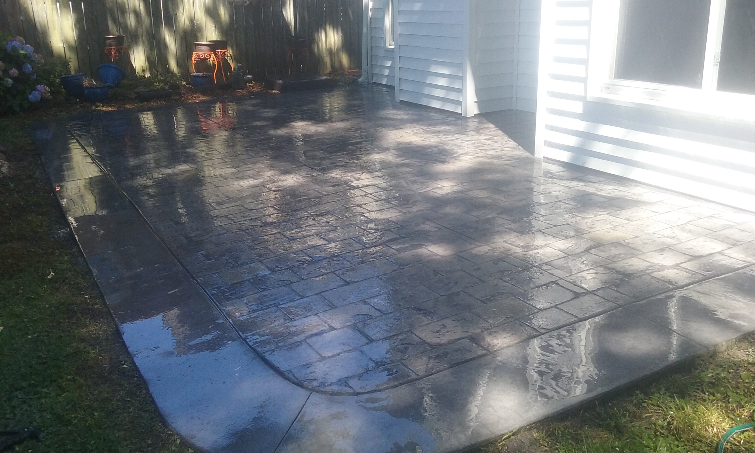 Backyard Paver Patio Install