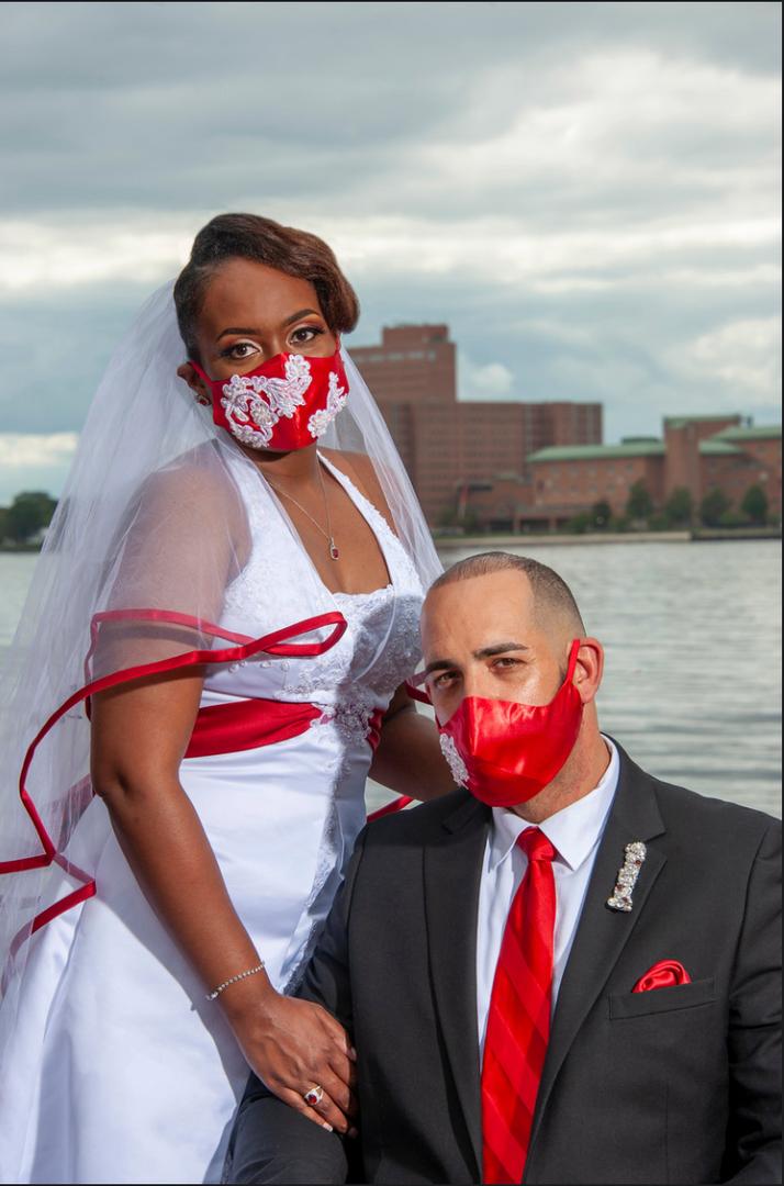 Matching Wedding Masks