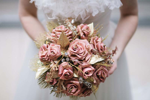 Silk Brooch Bouquet
