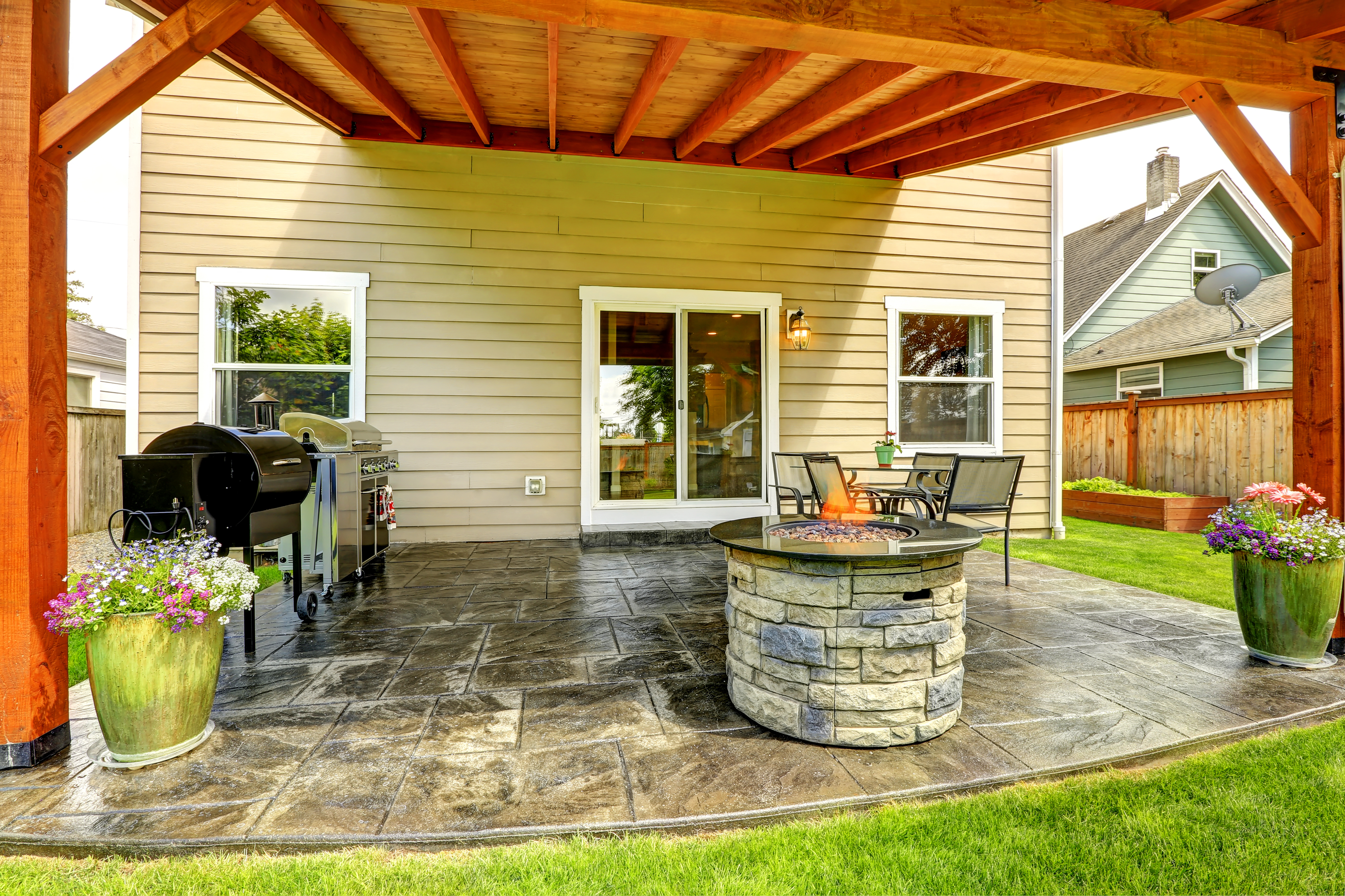 Fire Pit And Patio Design