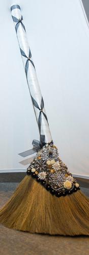 Custom Brooch Wedding Broom