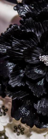 Close Up Matching Dress Wedding Cake