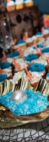Under The Sea Theme Cupcake Display