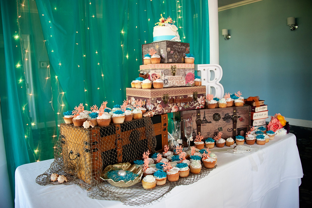 Caribean Theme Cupcake Display