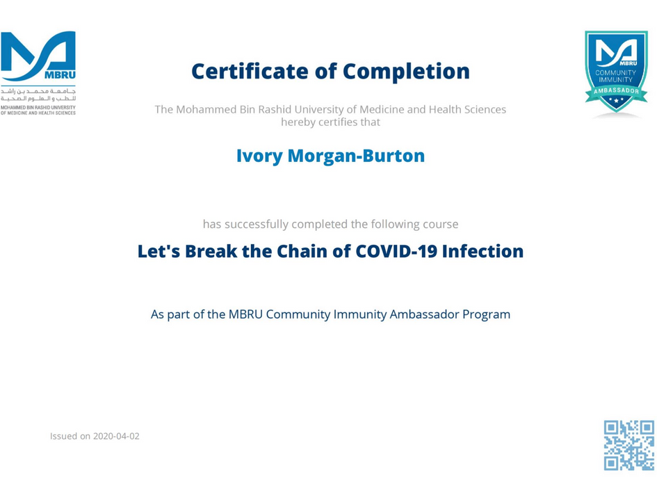 Covid 19 Training Certificate
