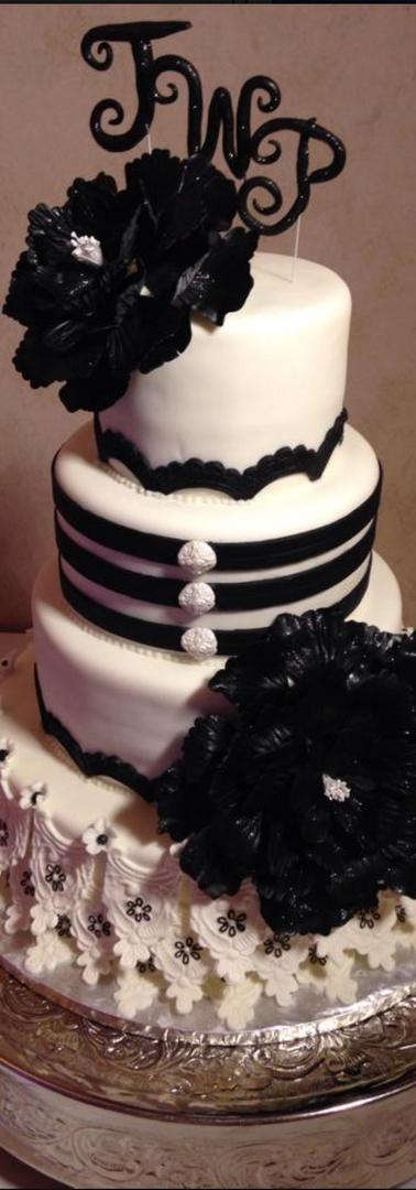 Matching Dress Wedding Cake