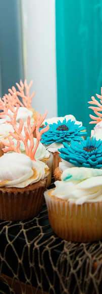 Coral Reef Theme Cupcakes