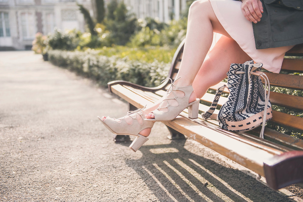 sandales blanche porte