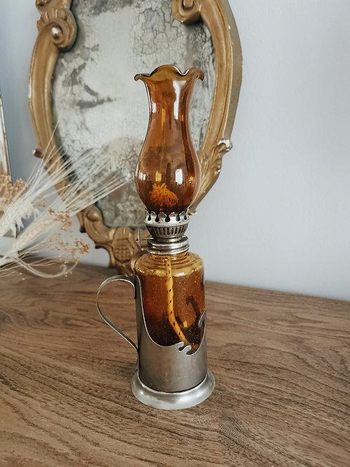 Lampe à huile ambrée